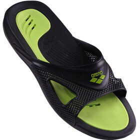arena Hydrofit Hook Sandals Herre black/black/green